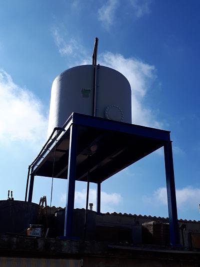 Càlcul d'una estructura metàl·lica per soportar un dipòsit d'aigua