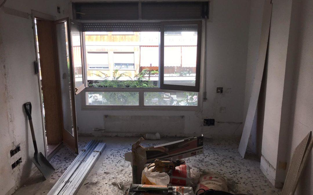 Reforma interior d'un habitatge en bloc plurifamiliar